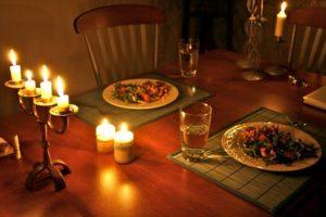 Ужин при свечах фото